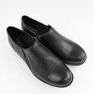 BOC Born Concepts Black Leather Booties Loafers 9